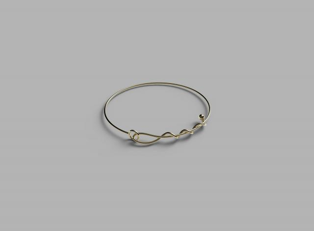 9k & 18k yellow gold A line of Love bracelet