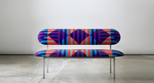 re-imaginde sofa with David David 'French Riviera' fabric