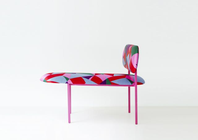 Re-imagined Long chair - Marc Jacob's Stacey check fabric