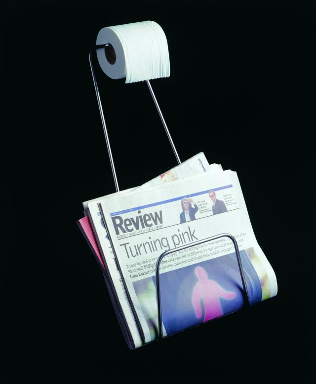 magasine and toilet roll holder