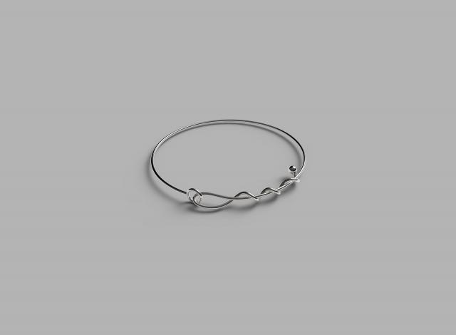 Sterling silver A line of Love bracelet length 24cm