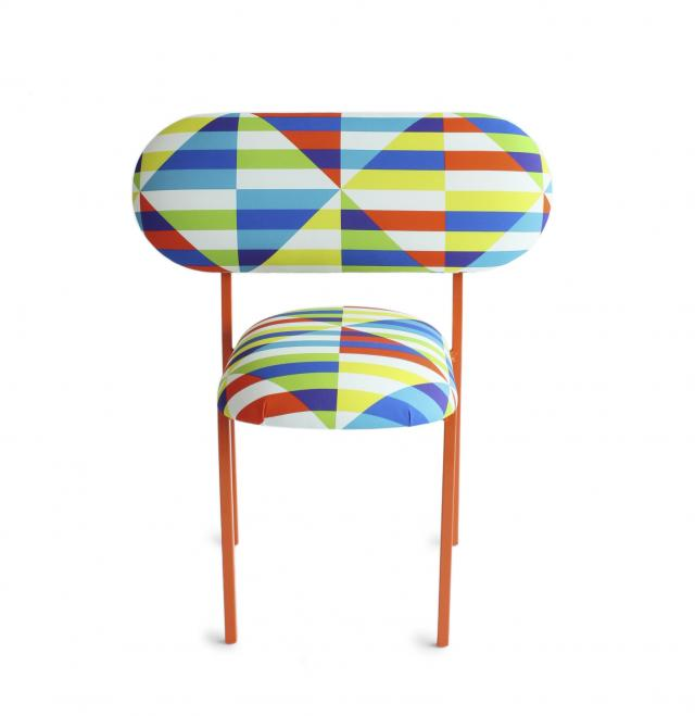 re-imaginde chair with David David 'French Riviera' fabric