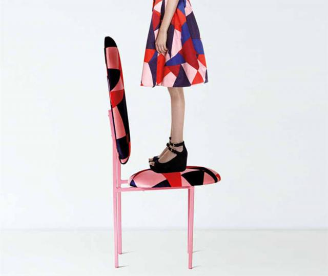 Re-imagined chair with dress
