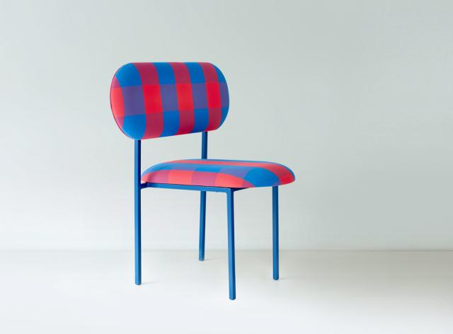 re-imagined chair - Marc Jacob's Stacey check fabric
