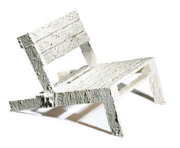 Rachel Whiteread costumised Pallet Chair for charity